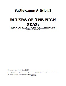 Battlewagon Article #1: Rulers of the High Seas